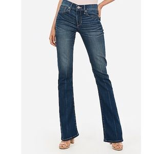 EUC Express Mid Rise Barely Boot Jeans-Size 12R